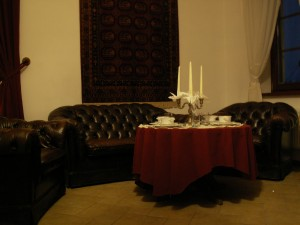 Zdjęcie z sali kominkowej